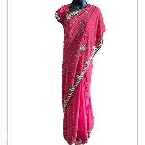 Indian Saree/Sari, Stitched Blouse.